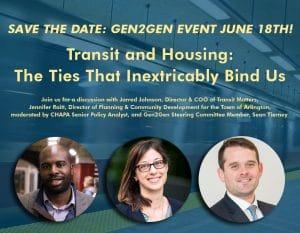Gen2Gen Will Explore Transit & Housing June 18