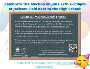 Thank you for joining us in Swampscott on Sunday June 27th for a Celebration of The Machon!